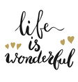 Life is wonderful vector image