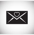 love letter on white background vector image