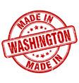 made in washington red grunge round stamp vector image vector image