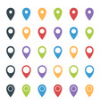 map pointer set colorful location marker icons vector image vector image