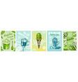 matcha green tea poster healthy milk blue latte vector image vector image