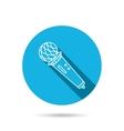 Microphone icon Karaoke sign vector image
