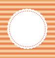 mockup greeting card round ornamental frame vector image vector image
