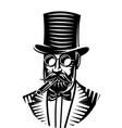 monochrome a gentleman and vector image
