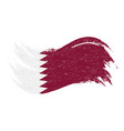 national flag of qatar designed using brush vector image vector image