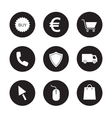 Online store black icons set vector image vector image