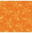 Orange floral pattern vector image vector image