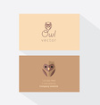 Owl Business Card Template vector image vector image