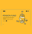 pension fund isometric landing page retirement vector image vector image