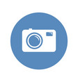 photo camera sign in blue circle vector image vector image