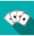Playing cards icon flat style vector image vector image