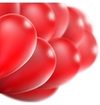 Red glossy balloons EPS 10