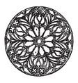 rose window circular window vintage engraving vector image vector image