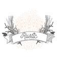 rustic wreath hand drawn vector image vector image