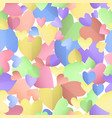 seamless pattern background with pastel hearts vector image vector image