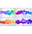 set abstract geometric 3d facet shapes vector image vector image