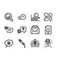 set business icons such as group seo analysis vector image vector image