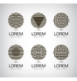 set of black and white stripe geometric vector image