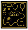 Set of golden chains gold jewelry vector image vector image