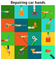 Set with rapairing hands vector image vector image
