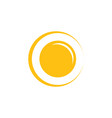 shine yellow sun simple logo vector image vector image