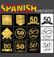 spanish set of number 50 templates vector image