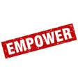 square grunge red empower stamp vector image vector image