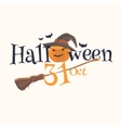 Sticker and poster Happy Halloween vector image vector image