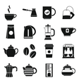 Tea and coffee icons set simple style vector image vector image