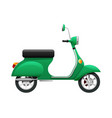transport of isolated green scooter vector image vector image