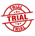 trial round red grunge stamp vector image vector image
