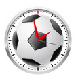 wall clock football style on white background vector image vector image