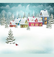 winter village landscape vector image vector image