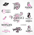 womens day typographical design elements for gree vector image vector image