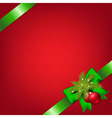 Xmas Green Ribbons With Fir Tree And Stars vector image vector image