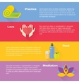 Yoga concept flat icons set vector image vector image