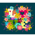 flowers love vector image
