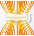 Orange stripes with white banner vector image