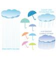 a set of assorted regarding the rain vector image