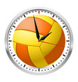 wall clock volleyball style on white background vector image