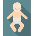 Beautiful portrait of adorable baby vector image