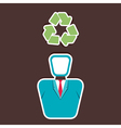 recycle symbol on human head vector image
