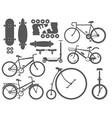 active city transport eco alternative energy bike vector image vector image