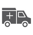 ambulance car glyph icon medical and emergency vector image vector image
