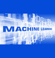 artificial intelligence machine learning symbol vector image vector image