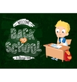 Back to school background with pupil vector image