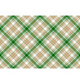 beige green white plaid seamless background vector image