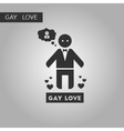 black and white style icon homosexual gays lovers vector image vector image