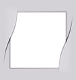 blank white square paper vector image vector image
