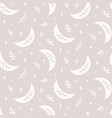 boho seamless pattern with crescent star vector image